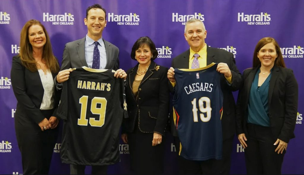 Harrahs NOLA Partnerships Saints Pelicans