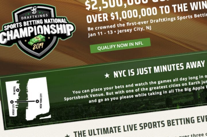 dk sports betting national championship