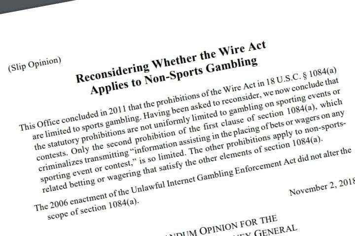 wire act reinterpretation doj
