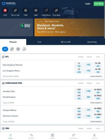FanDuel Sportsbook Mobile NJ