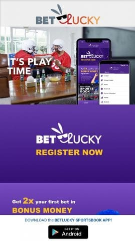 BetLucky home page