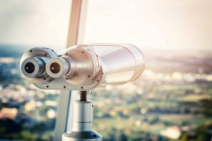 Binoculars in building