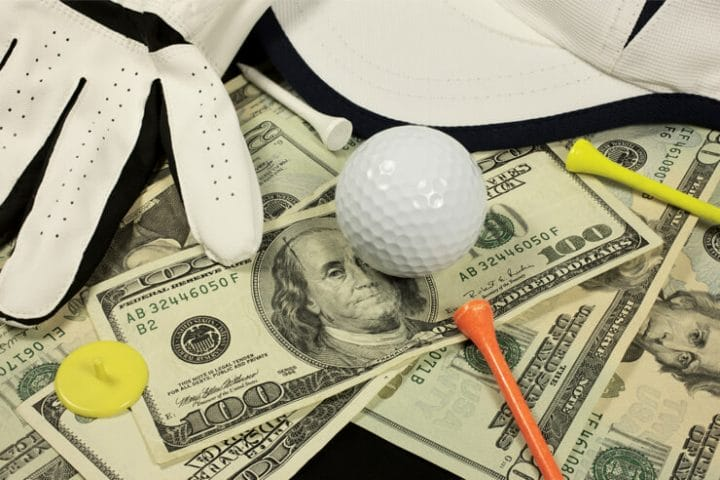 golf tees balls money betting