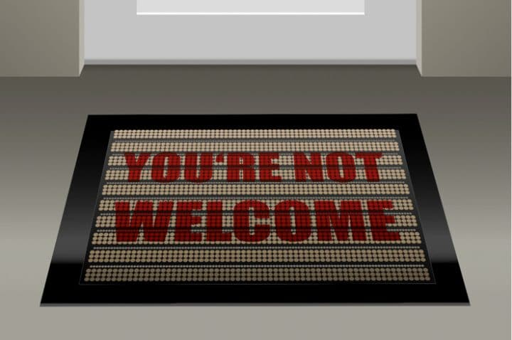 you're not welcome mat