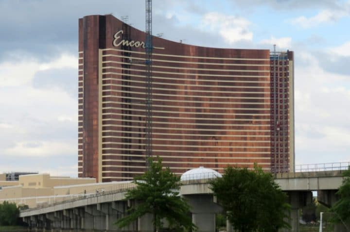 encore boston harbor under construction