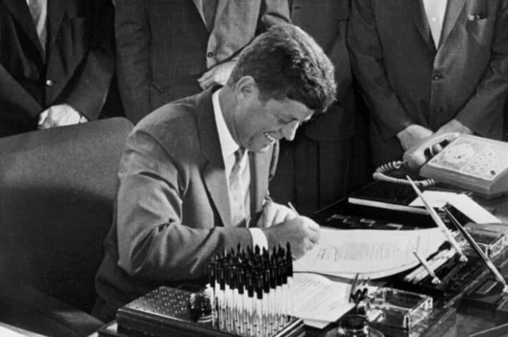 john f kennedy signs bills 1961