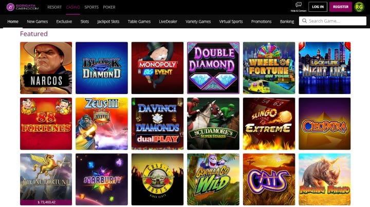 Borgata Casino user experience on desktop