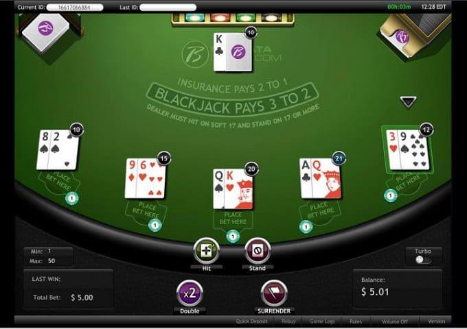Multi Hand Blackjack at Borgata Online