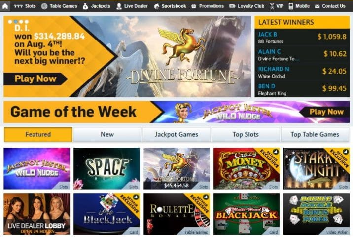 Betfair Casino on desktop