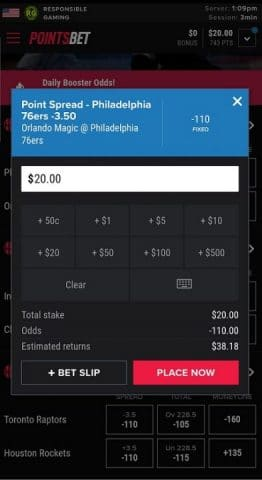 pointsbet online sportsbook mobile