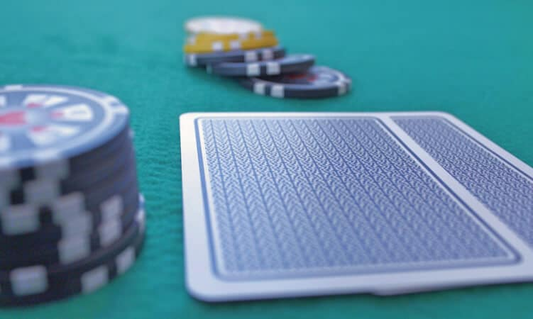 poker cards chips