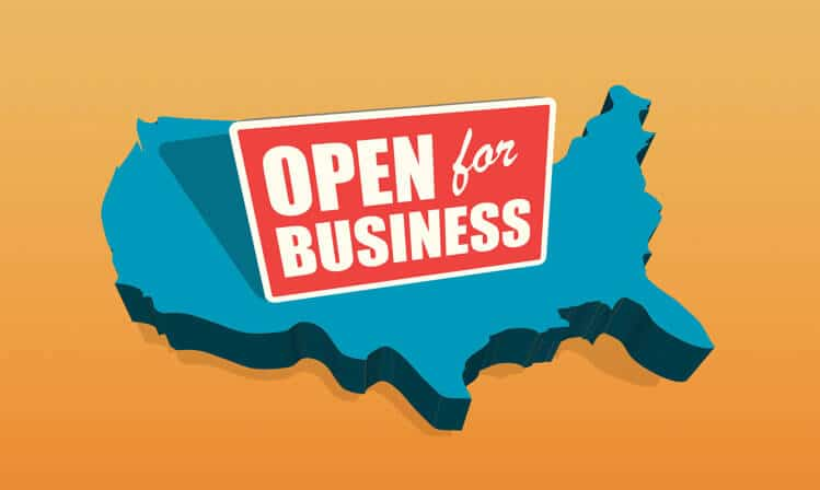 us map open for business