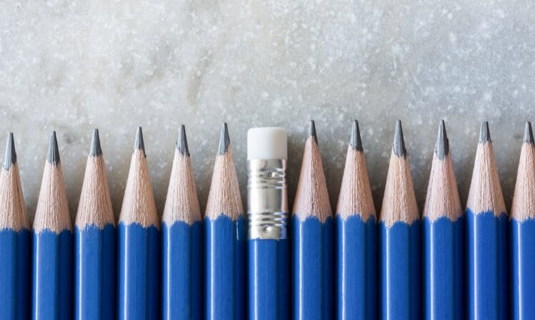 pencils opposite direction